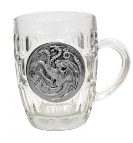 Game of Thrones pivný krígeľ Targaryen Metallic Logo