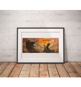 Harry Potter Art Print - Deathly Hallows Book Cover 42x30cm