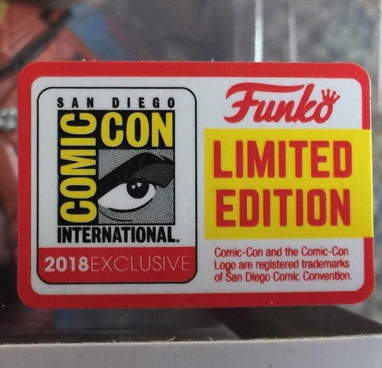 Funko POP SDCC Exclusive 2018 sticker